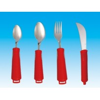 Adapted cutlery set red