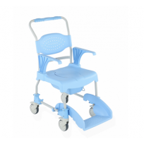 Shower and toilet chair on wheels