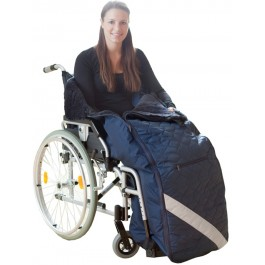 Wheelchair leg muff - virgin wool