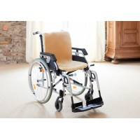 Wheelchair cover genuine lambskin